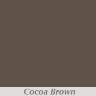 Cocoa Brown Gutter Color